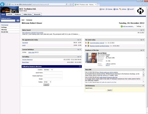 teamWorks intranet CRM function
