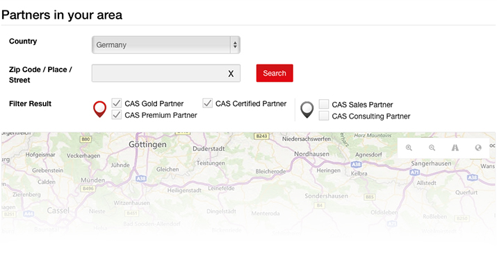 CAS partners on YellowMap