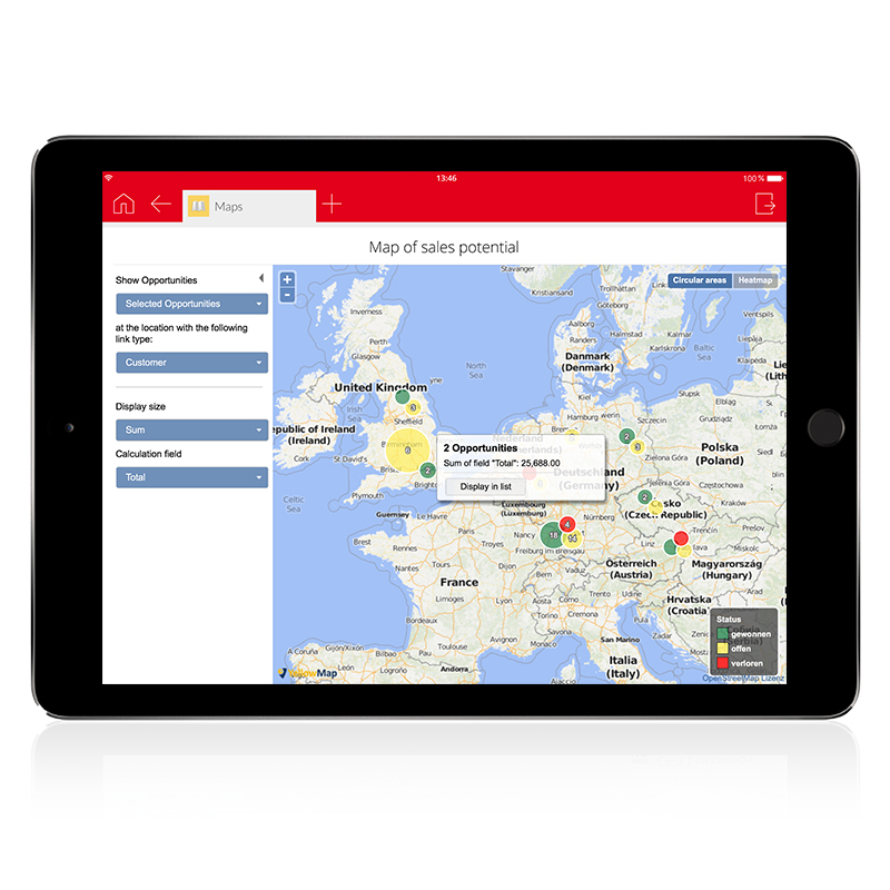 CAS genesisWorld ‒ the CRM solution for all sectors and